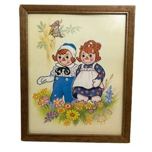 Vintage Raggedy Ann and Andy Litho Print